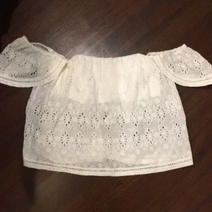 Brand new, white off the shoulder top